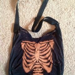 Ribcage Bleached Hobo Bag