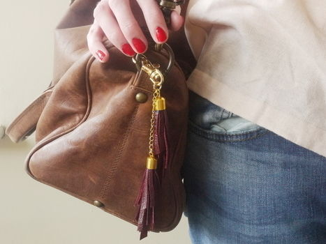 Perfect accessory for your handbag! .  Free tutorial with pictures on how to make a tassel charm in under 45 minutes by jewelrymaking with scissors, jump rings, and chain. How To posted by Nikki B.  in the Jewelry section Difficulty: Simple. Cost: Cheap. Steps: 12