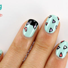 Spring Kitty Nail Art