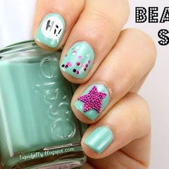 Beaded Star Nail Art
