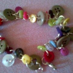 Mixed Button Bracelet
