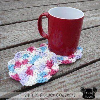 Works well as face cloths & fun washcloths for kids! .  Free tutorial with pictures on how to stitch a knit or crochet coaster in under 12 minutes by crocheting with scissors, crochet hook, and yarn needle. How To posted by crazysocksdesigns.  in the Yarncraft section Difficulty: Easy. Cost: Absolutley free. Steps: 1