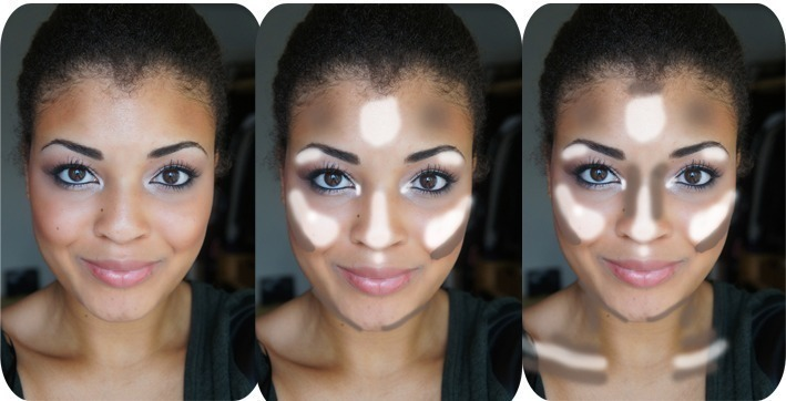A Handy Contouring And Highlighting Chart For Everyday Or More Makeup D Look