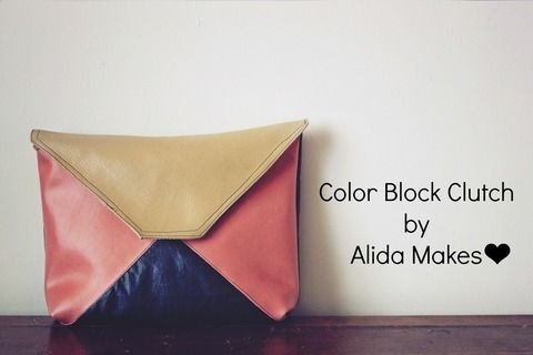 A clutch for the fashionista in you. .  Free tutorial with pictures on how to make an envelope clutch in under 60 minutes by machine sewing with fabric. How To posted by Alida Makes.  in the Needlework section Difficulty: Simple. Cost: Absolutley free. Steps: 4