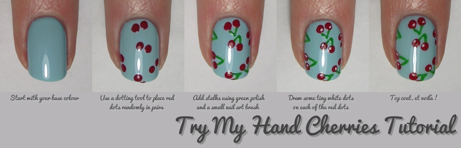 Nail Art Tutorial Cherries How To Paint Patterned Nail Art