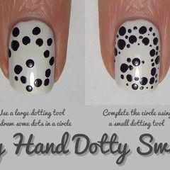 Nail Art Tutorial : Dotty Swirls