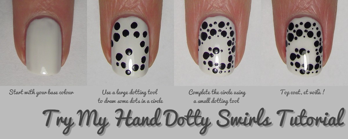 Nail Art Tutorial : Dotty Swirls · How To Paint Patterned