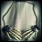 Skeleton Hand Necklace