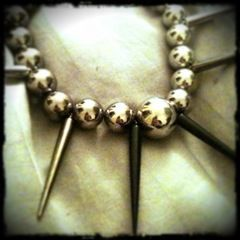Ball And Spike Necklace