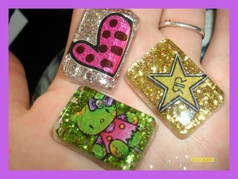 Cute Little Glitter Charms! =^.^= .  Make a resin pendant by jewelrymaking, molding, and resinworking with stickers, resin, and mould. Inspired by gifts, gothic, and steampunk. Creation posted by Rachael T.  in the Jewelry section Difficulty: 4/5. Cost: 3/5.