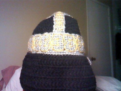 d9b3d835956 ... Even the dwarf women have beards . Make a bearded hat by crocheting with  yarn