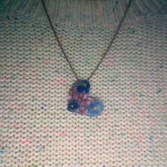 Shrinky Dink Heart Necklace