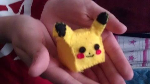 Learn how to make a cubed pikachu plushie out of felt! .  Free tutorial with pictures on how to make a Pokemon plushie in under 120 minutes by sewing with felt, pencil, and ruler. Inspired by pokemon, pokemon, and costumes & cosplay. How To posted by Ciel_Phantomhive13.  in the Needlework section Difficulty: 3/5. Cost: Cheap. Steps: 16