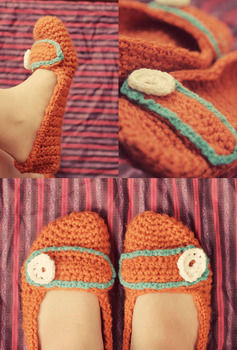 Easy and cute crochet slippers .  Free tutorial with pictures on how to stitch a pair of knit or crochet slippers in under 120 minutes by yarncrafting and crocheting with crochet hook, crochet hook, and crochet hook. Inspired by shoes. How To posted by Crissy. Difficulty: Simple. Cost: Cheap. Steps: 1