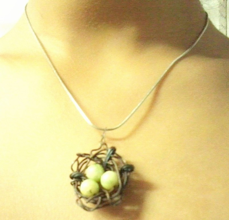 Bird S Nest Pendent 183 How To Make A Wire Necklace