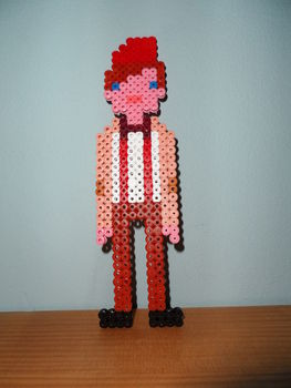 Are you the doctor? .  Free tutorial with pictures on how to make a beaded character in under 120 minutes by beading, pegboarding, and fusing with iron, perler beads, and hama bead ironing paper. Inspired by gifts, costumes & cosplay, and sci fi. How To posted by .  in the Other section Difficulty: Simple. Cost: Cheap. Steps: 3