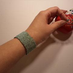 Minty Peyote Stitch Bracelet