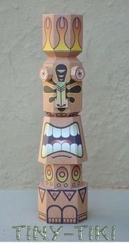 Build your own Tiki Idol, & make it look however you choose. .  Make a paper model in under 120 minutes by papercrafting with paper. Creation posted by Sinner PWA.  in the Papercraft section Difficulty: 4/5. Cost: Cheap.