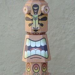 Tiki Idol Paper Toy
