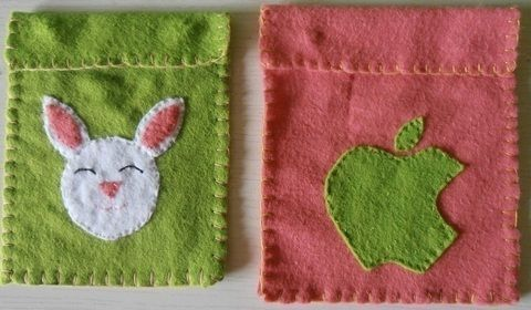 To hold chargers .  Stitch an applique pouch in under 60 minutes by needleworking and sewing with thread, needle, and fabric scissors. Creation posted by Fugulicious.  in the Needlework section Difficulty: Easy. Cost: Cheap.