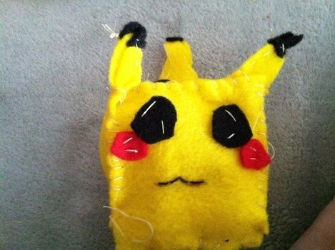 My version of the cubed pikachu plushie!!!! .  Make a Pokemon plushie in under 120 minutes using felt and thread. Inspired by pokemon, kawaii, and pikachu. Creation posted by Diana P.  in the Other section Difficulty: 3/5. Cost: Cheap.