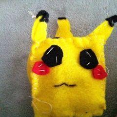 Cube Pikachu Plushie My Version