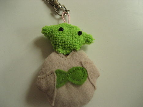 .  Sew a fabric character charm in under 120 minutes by needleworking Inspired by star wars, geeky, and yoda. Version posted by Arty Kitkat. Difficulty: Simple. Cost: Absolutley free.