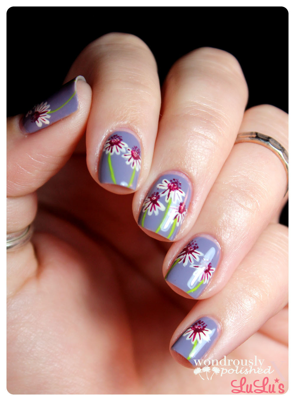 Daisy Floral Nail Art 183 How To Paint Patterned Nail Art 183 Beauty On Cut Out Keep