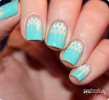 Add some elegance to your nails with this lace tutorial! .  Free tutorial with pictures on how to paint braided nail art in under 30 minutes by nail painting with paint brush and nail polish. How To posted by Lindsey  W. Difficulty: 3/5. Cost: Cheap. Steps: 5