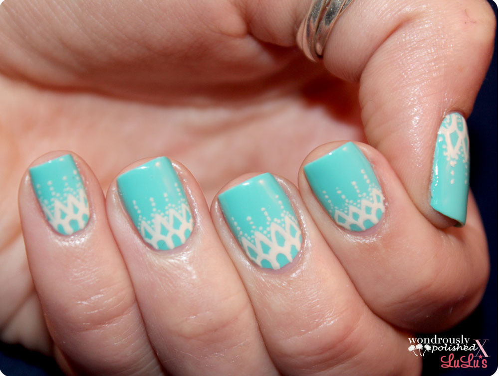 Lace Nail Art · How To Paint Braided Nail Art · Nail Painting on Cut ...