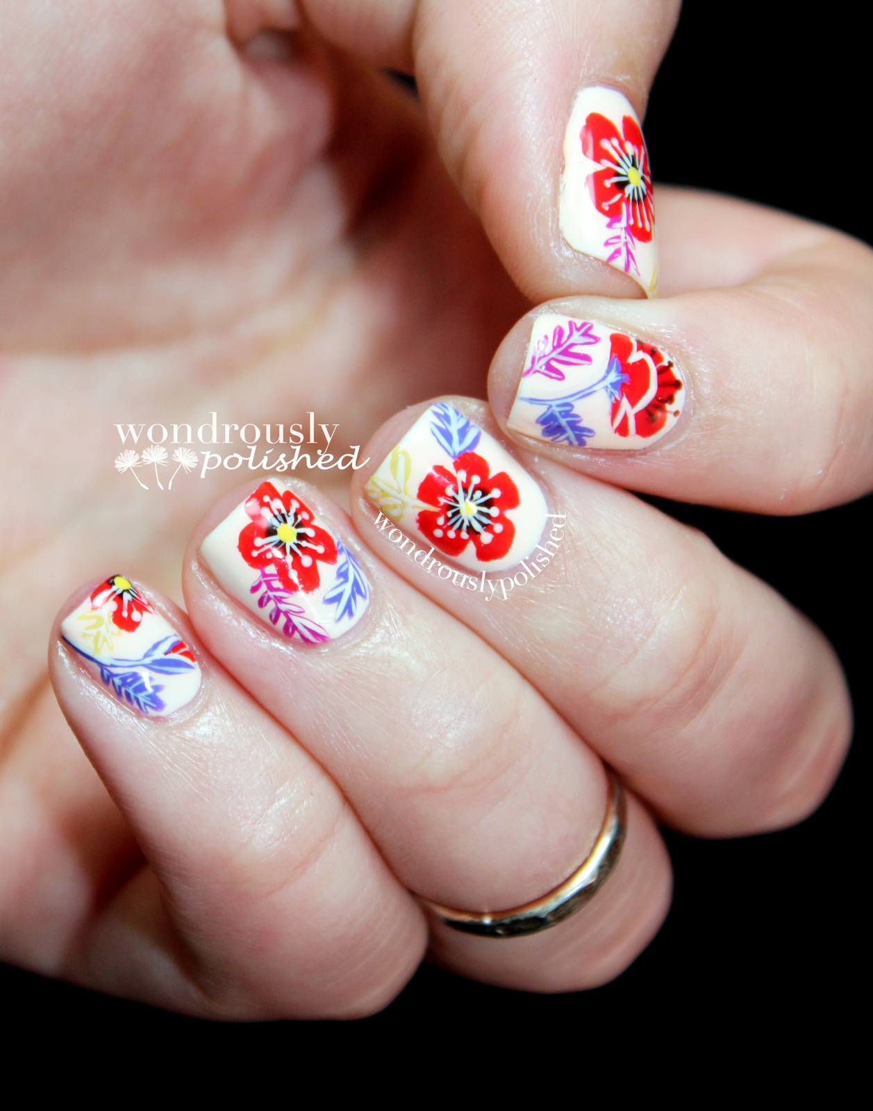 Floral Nail Art 183 How To Paint Patterned Nail Art 183 Nail Painting And Nail Painting On Cut Out