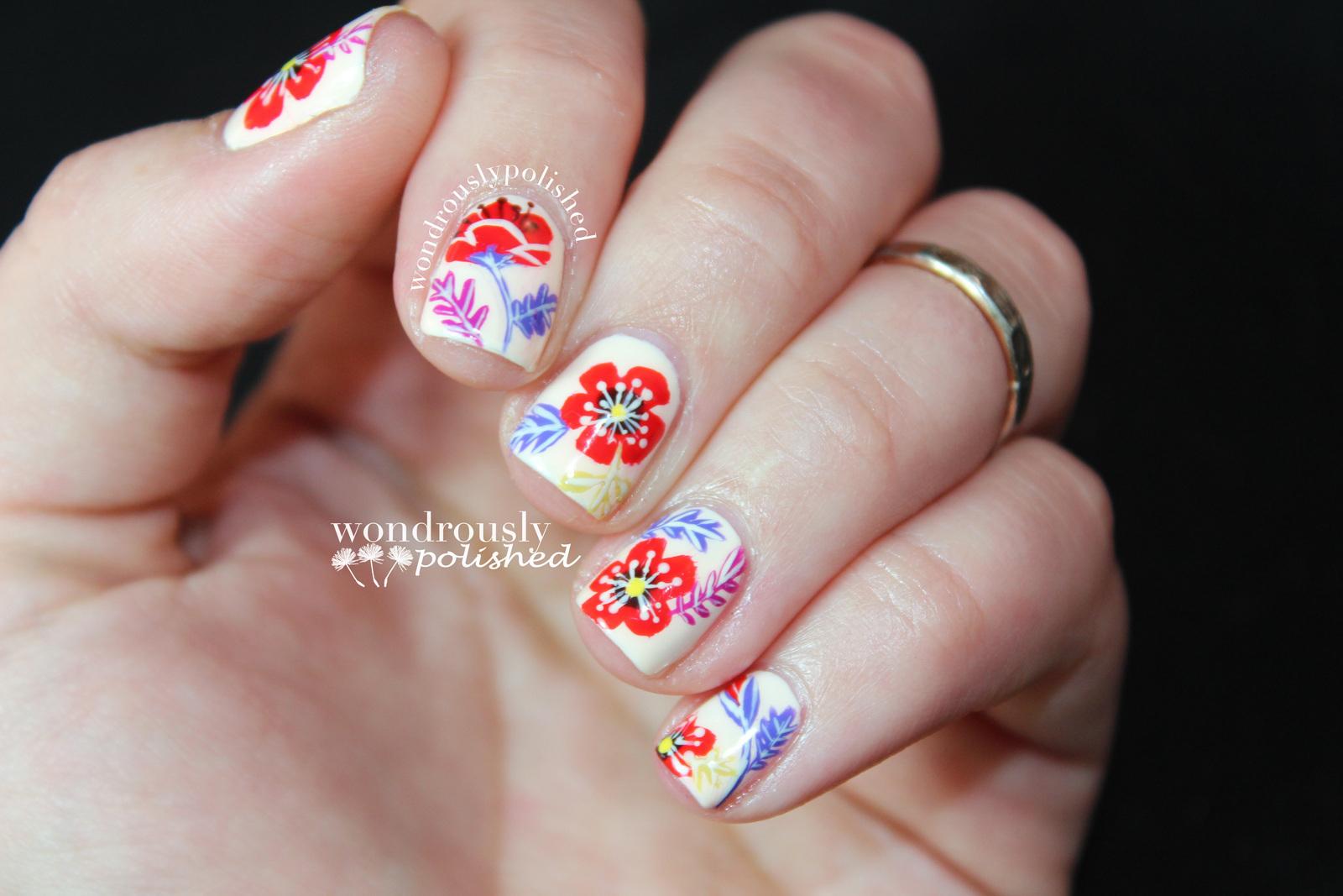 Floral Nail Art 183 How To Paint Patterned Nail Art 183 Nail