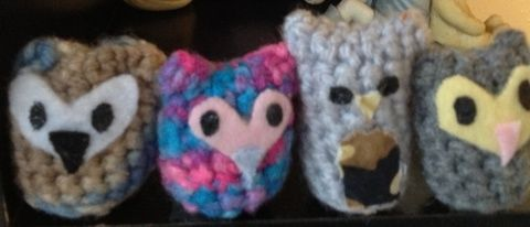 My Ohana in yarn .  Make a bird plushie in under 80 minutes by amigurumi with crochet needle and crochet yarn. Inspired by vintage & retro, kawaii, and owls. Creation posted by MauiMami.  in the Yarncraft section Difficulty: 3/5. Cost: Absolutley free.