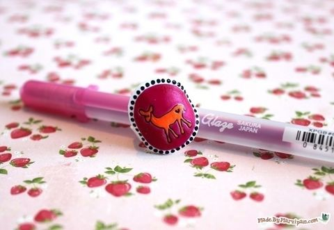Stamp & color your own rings! .  Free tutorial with pictures on how to make a plastic ring in under 40 minutes by jewelrymaking and melting with scissors, ruler, and oven. How To posted by MadeByMarzipan.  in the Jewelry section Difficulty: 4/5. Cost: 3/5. Steps: 17