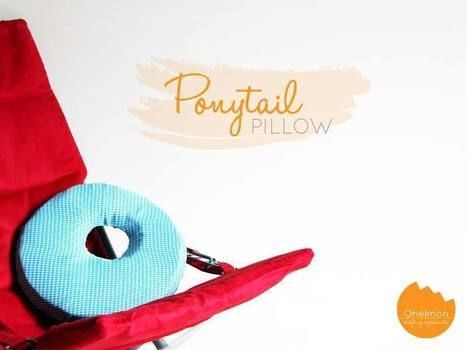A custom made pillow for ponytail fan .  Free tutorial with pictures on how to make a shaped cushion in under 60 minutes by machine sewing with fabric, scissors, and needle & thread. How To posted by onelmon.  in the Needlework section Difficulty: 3/5. Cost: Cheap. Steps: 4