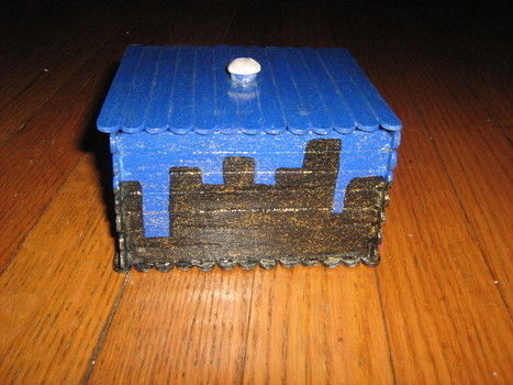Gift Box From Popcycle Sticks 183 A Popsicle Stick Box