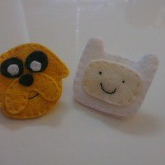 Jake The Dog And Finn The Human Brooches