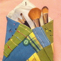 Patchwork Makeup Pouch
