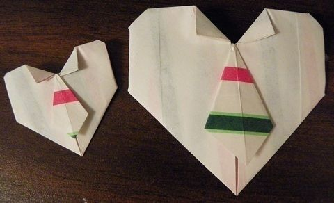 So cute and simple to make .  Fold an origami shape in under 5 minutes by paper folding and paper folding with paper. Inspired by hearts and hearts. Creation posted by Laura.  in the Papercraft section Difficulty: Easy. Cost: No cost.