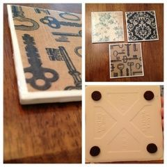 Recycled Tile Coasters