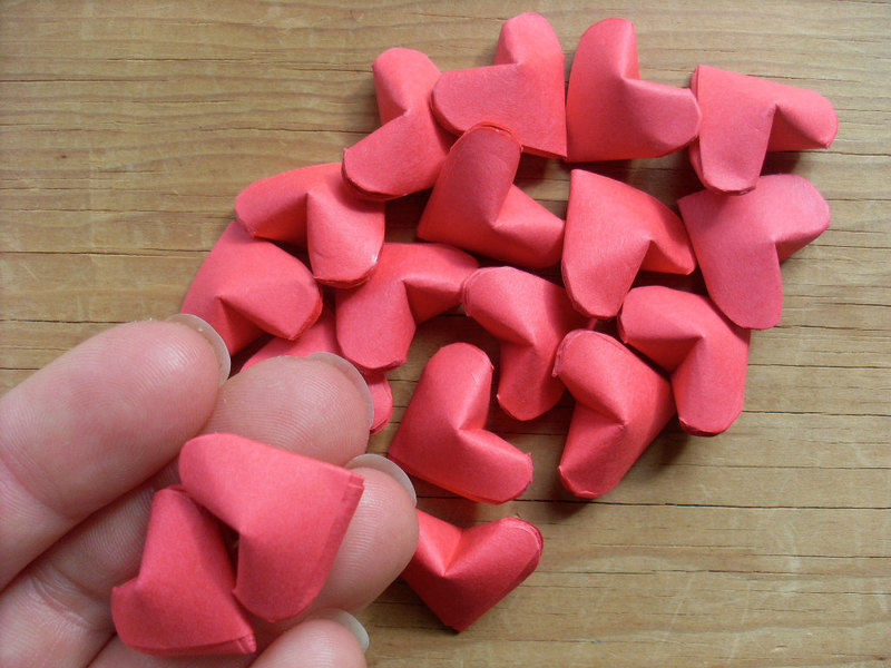 Small Paper Craft Hearts