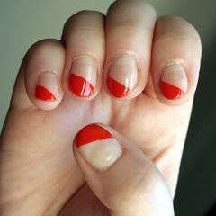 Easy Diagonal Manicure