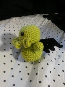 Ph'nglui mglw'nafh Cthulhu R'lyeh wgah'nagl fhtagn .  Free tutorial with pictures on how to make a food plushie in 5 steps by crocheting and amigurumi with crochet hook, worsted weight yarn, and safety eyes. Inspired by crafts, domo kun, and domo kun. How To posted by Veronica Stampede.  in the Yarncraft section Difficulty: 3/5. Cost: Cheap.