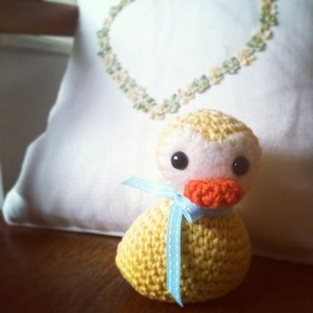Quack! Quack! Crochet a little duck, amigurumi-style. .  Free tutorial with pictures on how to make a bird plushie in under 120 minutes by crocheting with felt, yarn, and embroidery thread. Inspired by ducks. How To posted by Annaboos House.  in the Yarncraft section Difficulty: 3/5. Cost: Cheap. Steps: 4