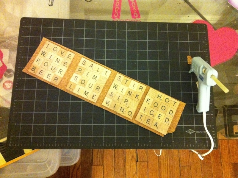 Scrabble coasters a scrabble coaster home diy on cut for Diy scrabble costume
