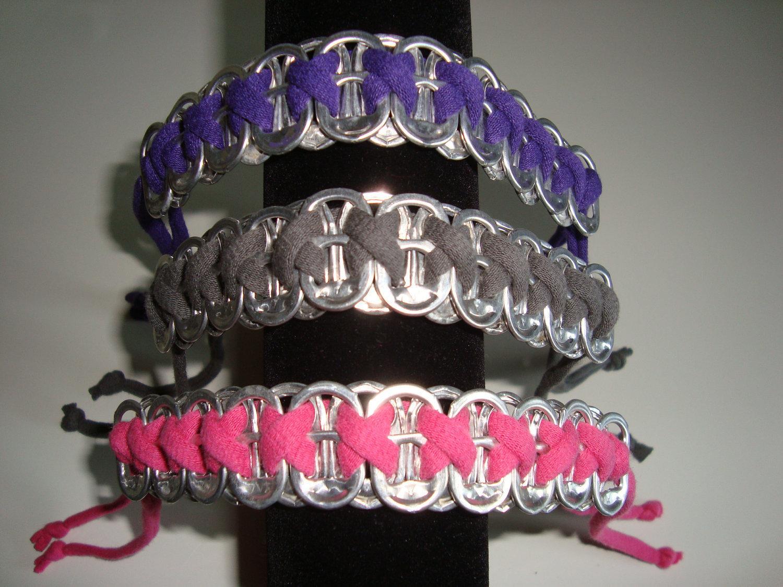 Soda pop tabs crafts - Bracelets From Soda Can Tabs