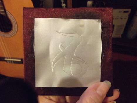 Mini notebook with love rune; Mortal Instruments  .  Make a bound book in under 20 minutes by bookbinding and engraving with paper, cardboard, and metal. Inspired by gifts, books, and symbols. Creation posted by ChristineMarie.  in the Papercraft section Difficulty: 4/5. Cost: No cost.
