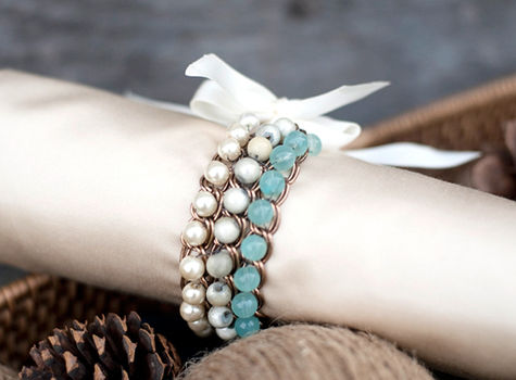 Mothers day gifts jewelry-a birthstone bracelet for mom  .  Free tutorial with pictures on how to make a bracelet in under 120 minutes by jewelrymaking with pearl beads. Inspired by clothes & accessories. How To posted by .  in the Jewelry section Difficulty: Easy. Cost: Cheap. Steps: 8