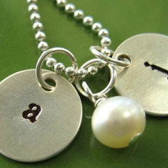 Initial Necklace For Mom  Personalized Mommy Necklace