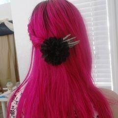 Skeleton Hand W/ Flower Hairclip